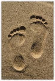 barefoot sand